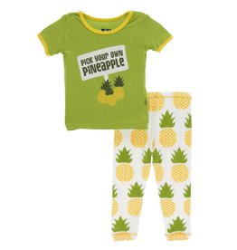 Kickee Pants S/S PJ Set Nat. Pineapple