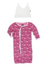 Kickee Pants Ruff. Converter & Hat Flamingo Rainbow