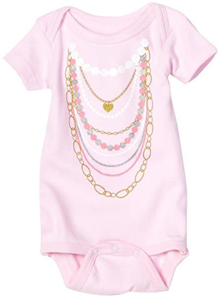 Sara Kety Pink Necklaces Onesie