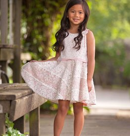 Isobella & Chloe Pink Blushing Petals Dress