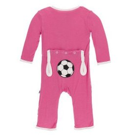 Kickee Pants App. Snap Coverall Flamingo Soccer