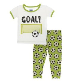 Kickee Pants S/S PJ Pant Set Meadow Soccer
