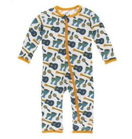 Kickee Pants Zip Coverall Samba