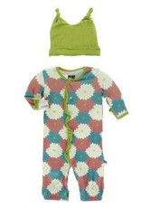 Kickee Pants Ruff. Converter & Hat Tropical Flowers