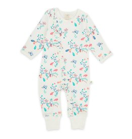 Tiny Twig Garden Floral Frill Zipsuit Feet
