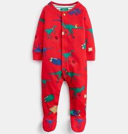 Joules Baby Ziggy Red Dino Footie