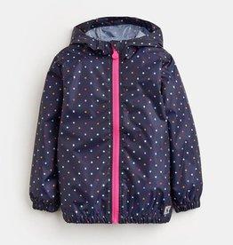 Joules Skye Waterproof Jacket Navy Acorn Dot