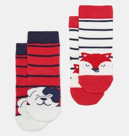 Joules Neat Feet Fox And Dog 2pk Sock Set