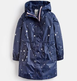 Joules Golightly Packaway Waterproof Jacket Navy Star