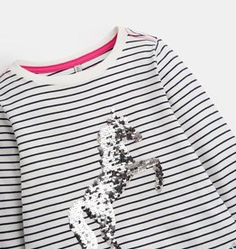 Joules French Navy Stripe Unicorn Sequin Shirt