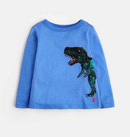 Joules Finlay Dazzling Blue Dino LS Top