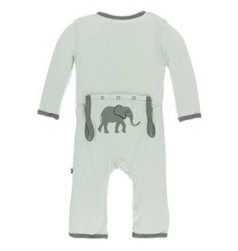 Kickee Pants Aloe Elephant App. Zip Coverall