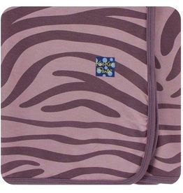 Kickee Pants Elderberry Zebra Swaddle Blanket