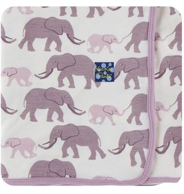 Kickee Pants Nat. Elephant Swaddle Blanket