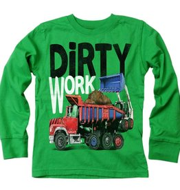 Wes And Willy Dirty Work LS Tee Irish