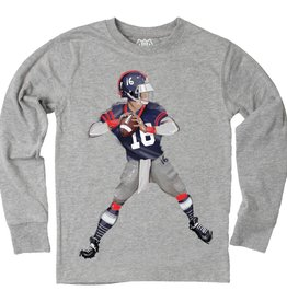 Wes And Willy Quarterback LS Tee Heather