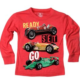 Wes And Willy Ready Set Go LS Tee Cherry Blend