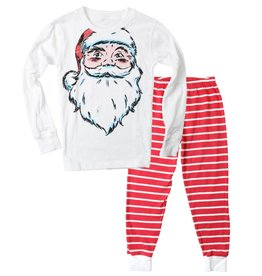 Wes And Willy Santa Claus Pajamas Cherry
