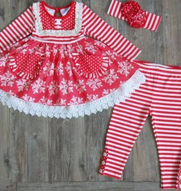 Serendipity Winter Wonderland Bib Pocket Dress w/ Legging