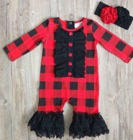 Serendipity Lumberjane Plaid Longall w/ Crochet Trim