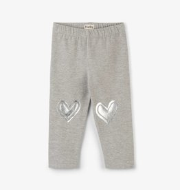 Hatley Metallic Heart Baby Leggings Light Grey