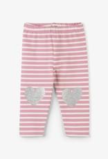 Hatley Light Pink Stripe Baby Leggings Desert Rose