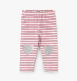 Hatley Light Pink Stripe Baby Leggings Desert Rose