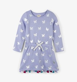 Hatley Metallic Butterflies French Terry Dress Azulene