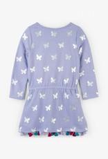 Hatley Metallic Butterflies French Terry Dress Azulene