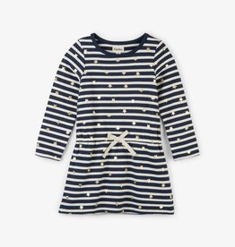 Hatley Starry Stripes French Terry Dress Solstice