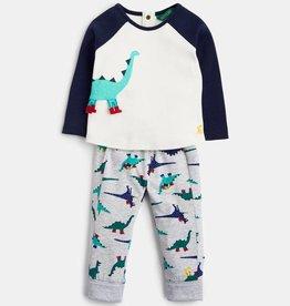 Hatley Mack Novelty Top and Pants Set Navy Dinosaur