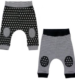 Kapital K 2pk Baby Pants Black/Gray Multi