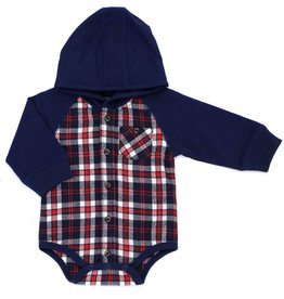Kapital K Plaid Flannel Bodysuit Mulberry