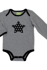 Kapital K Stripe Bodysuit w/Star Black & White