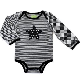 Kapital K Stripe Bodysuit w/Star Black & White
