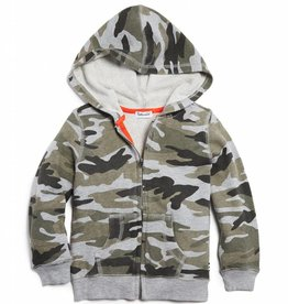 Splendid Hoodie Camo Charcoal Heather