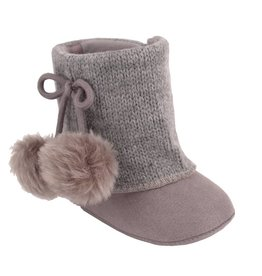 Trimfoot Co. Grey Suede Cloth Boot w/ Sweater Shaft & Bow