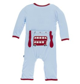 Kickee Pants App. Zip Coverall Pond Double Decker Bus