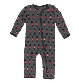 Kickee Pants Zip Coverall Queen's Guard