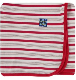 Kickee Pants Swaddle Blanket Rose Gold Candy Cane Stripe