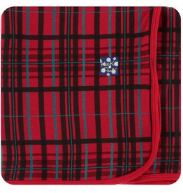 Kickee Pants Swaddle Blanket Christmas Plaid