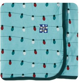 Kickee Pants Swaddle Blanket Glacier Holiday Lights