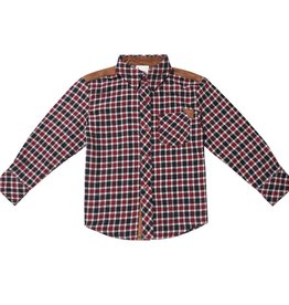 Fore!! Axel & Hudson LS Study Hall Red/ Black Flannel Shirt