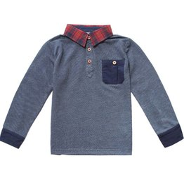Fore!! Axel & Hudson LS Navy Lightweight French Terry Polo