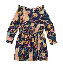 Masala Baby Fantasia Dress Cheetah Floral Navy
