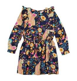 Masala Baby Fantasia Dress Cheetah Floral Navy