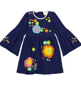 Masala Baby Simple Dress Magic Floral Navy