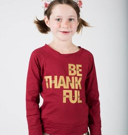 Haven Girl Thanksgiving Be Thankful Sweatshirt Wine