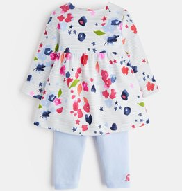 Joules Baby Christina Outfit Inky Floral Stripe