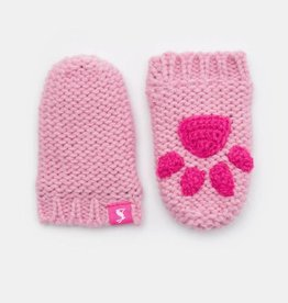 Joules Baby Paws Mittens Dusk Pink
